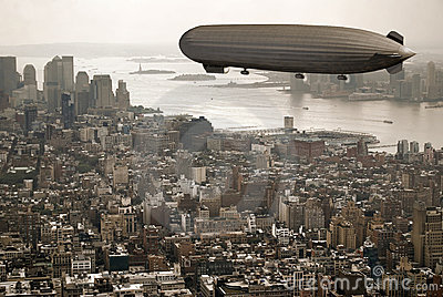 Zeppelin over Manhattan