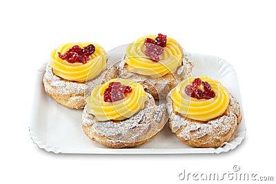 Zeppola di San Giuseppe Traditional italian dessert