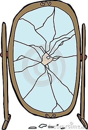 Zerbrochener spiegel vektor abbildung bild 41074001 for Spiegel hintergrund