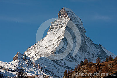 Zermatta Matterhorn Mountain in Switzerland
