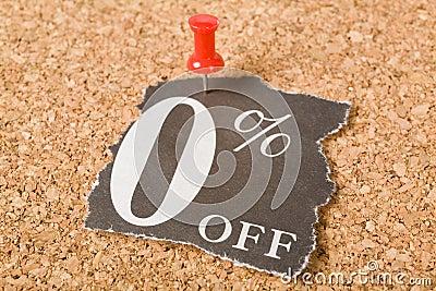 Zero percent off