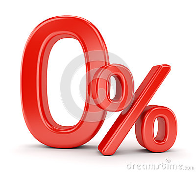 Zero percent symbol