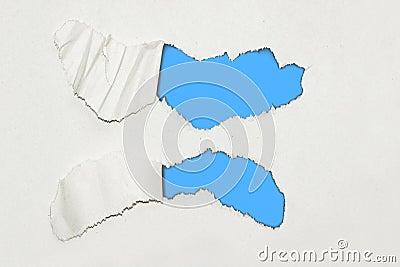 Zerrissener strukturierter Papierhintergrund