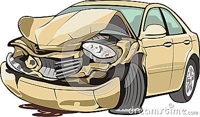Zerschmettertes Fahrzeug