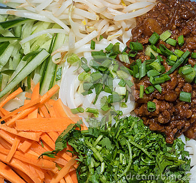 Zhajiang Mian, With Vegetables Stock Photo - Image: 58972806