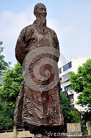 Zhang Lan Statue Editorial Photo