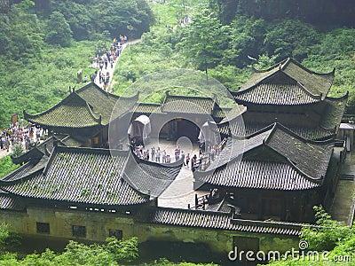 The Zhang Yimou movie Curse of the Golden Flower outside photography, Chongqing Wulong County, was born in three Qiao