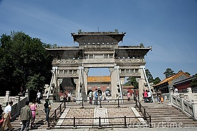Zhaoling archway Editorial Stock Image