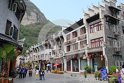 Zhenyuan ancient town in guizhou china Editorial Stock Photo