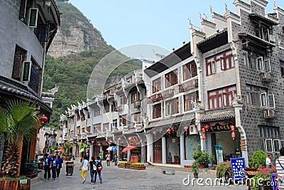Zhenyuan ancient town in guizhou china Editorial Stock Photo