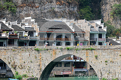 Zhenyuan ancient town in guizhou china Editorial Photography