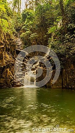 Zhivopistnyj falls in park Pliu in Thailand