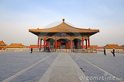 Zhonghedian,The Forbidden City (Gu Gong) Editorial Stock Photo