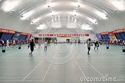 Zhongshan,china: badminton hall Editorial Stock Photo