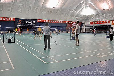 Zhongshan,china: badminton hall Editorial Stock Image