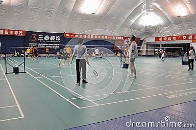 Zhongshan,china: badminton hall Editorial Stock Image