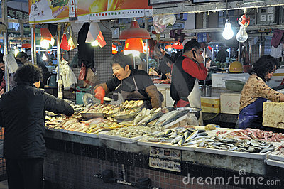 Zhongshan,china: market Editorial Stock Photo