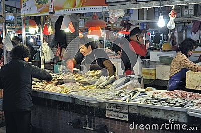Zhongshan,china: market Editorial Stock Photo