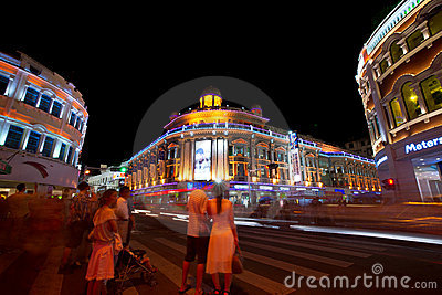 Zhongshan road night view,xiamen of china Editorial Photo