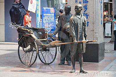 Zhongshan,Tricycle bronze Editorial Stock Image