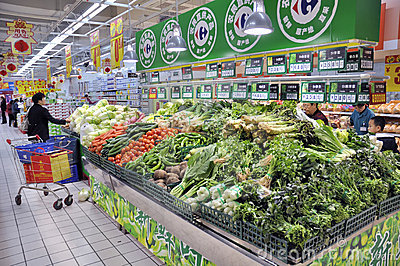 Zhuhai,Carrefour Super Market Editorial Image
