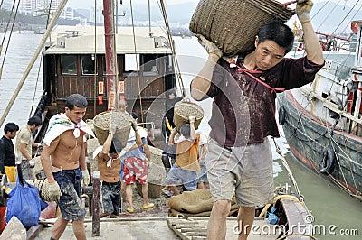 Zhuhai,china: fish pier Editorial Stock Image
