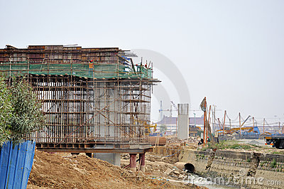Zhuhai railway station site Editorial Stock Image
