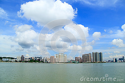 Zhuhai skyline Editorial Stock Image