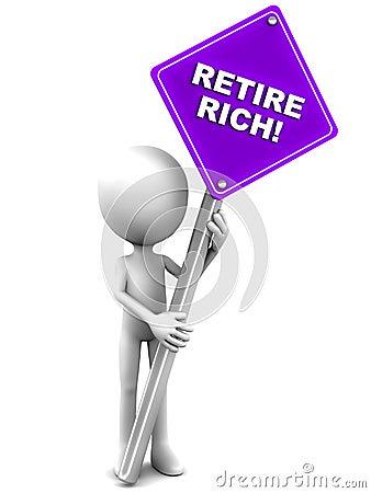Ziehen Sie sich Reiche zurück