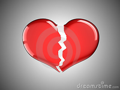 Ziekte en pijn. Rood Gebroken Hart