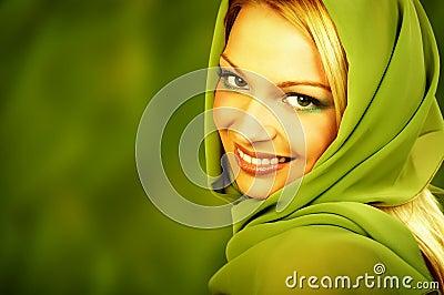 Zielona naturalnej spa kobieta