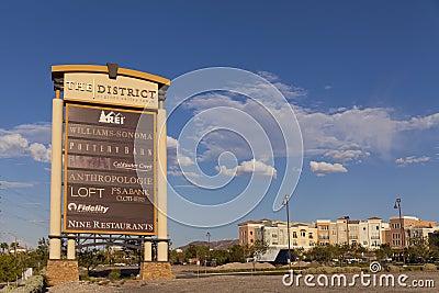 Zielonej doliny rancho hotel Podpisuje wewnątrz Las Vegas, NV na Sierpień 20, 201 Obraz Stock Editorial