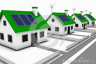 Zielony energii sąsiedztwo