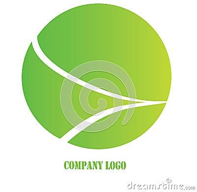 Zielony firma logo