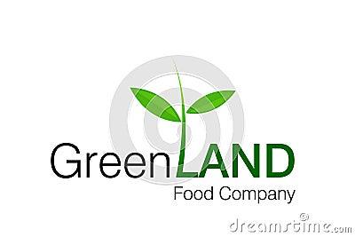 Zielony land logo