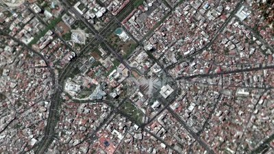 Ziemski Zbli?a Wewn?trz zoom Za Tirane Albania zdjęcie wideo