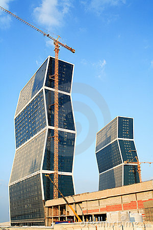 Free Zig Zag Towers West Bay Doha Qatar Royalty Free Stock Images - 7253909