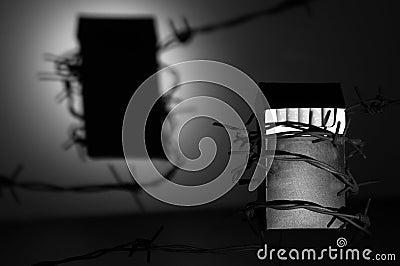 Zigarettensatz mit einem Schatten