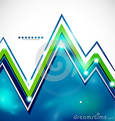 Zigzag bright background with lights