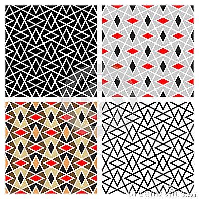 Zigzag Diamond Patterns