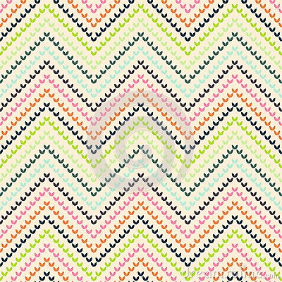Zigzag pattern in warm color