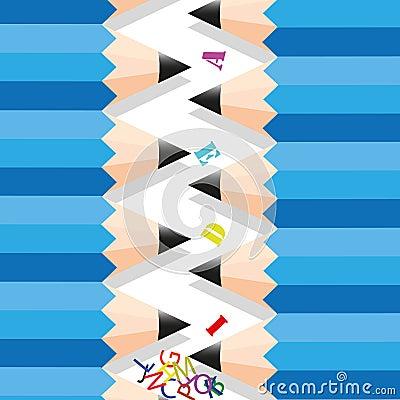 Zigzag row pencil.