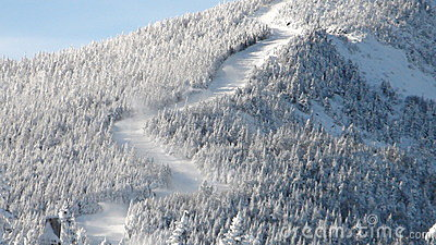 Zigzag ski trails