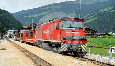 Zillertalbahn  at station Editorial Image