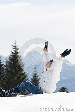 Zima kobieta