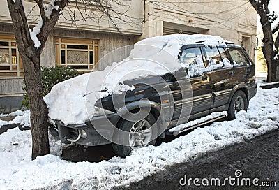 Zima samochód