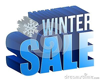 Zima sprzedaży 3d tekst