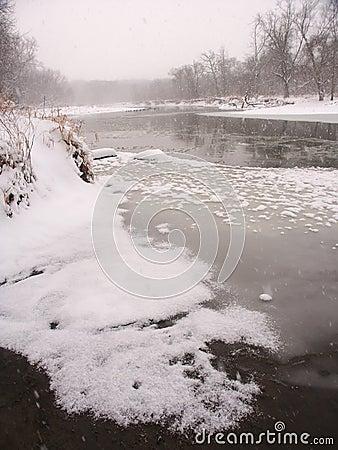 Zima w północny Illinois.