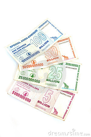 Zimbabwe billion dollar notes
