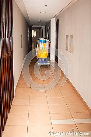 Zimmerservice-Laufkatze